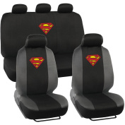 Superman Original Seat Covers for Car and SUV, Auto Interior Gift Full Set, Warner Brothers