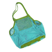Dosige Beach Mesh Tote Bags, Large Foldable Sand Away Children Beach Toys Organiser Storage Bags