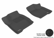 3D MAXpider 2005-2009 Buick LaCrosse Front Row All Weather Floor Liners in Black Carpet