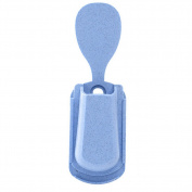 Pu Ran Wall Mount Tablespoon Rice Scoop Fork Spoon Holder Sucker Household Kitchen Tool - Blue