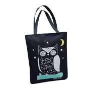 Tianfuheng Fashion Women's Canvas Animal Pattern Crossbody Single Shoulder Bucket Bag Gift