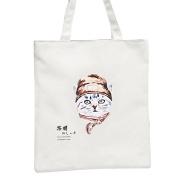 Tianfuheng Cartoon Cat Animal Heavy Cotton Canvas Shopping Blank Tote Bag Art Craft
