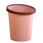 LoKauf Waste Paper Bin Waste Paper Basket Lidless Trash Can Garbage Bin with Fixed Pressing Ring