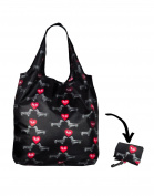 Re-Uz Lifestyle Shopper Foldable Reusable Shopping Grocery Bag - I Love Mini Dachshunds