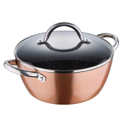 Bergner Eclipse Casserole with Lid, Copper, 3.8 Litre/24 x 10.5 cm