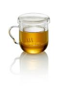 TEA SOUL 10 x 10 x 12 cm Glass Tea Maker, White
