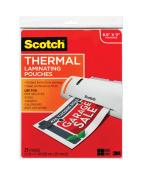 Scotch Thermal Laminating Pouches, 23cm x 29cm , 25 Ct