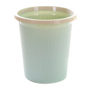 LoKauf Vintage Waste Paper Bin Waste Paper Basket Household Plastic Trash Can with Pressing Ring