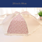Insulation food cover Pastoral dishes collapsible round square fruit food cover lace Anti-fly cover Food Domes
