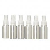 6PCS 40ml Aluminium Spray Bottle, WCIC Refillable Travel Bullet-style Fine Mist Atomizer Bottles for Essential Oil Make-up Toner