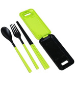 Kitchen Dinnerware Sets PVC Separable Fork Cutlery Set Plastic Kids's Gift Portable Travel Camping Tableware