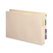 Smead End Tab Manila File Pockets with Reinforced Tab