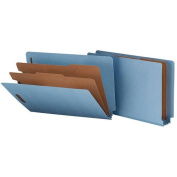 Smead End Tab Coloured Pressboard Classification Folders with SafeSHIELD® Coated Fastener Technology
