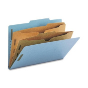 Smead Pressboard Classification Folders with Pocket-Style Dividers and SafeSHIELD® Coated Fastener Technology