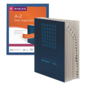 Expandable Indexed Sorter, A-Z, Letter Size, Pressboard, Navy Blue, Sold as 1 Each