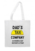 Dad's Taxi 24/7 Sublimation Tote Bag Shopper