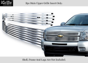 304 Stainless Steel Billet Grille Fits 2007-2013 Chevy Silverado 1500
