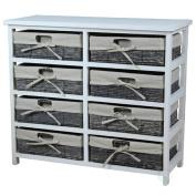 Vintiquewise Wooden Storage 8 Drawer Accent Chest