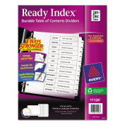 Avery Ready Index Customizable Table of Contents Black & White Dividers, 12-Tab, Ltr
