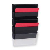 Sparco Products Vertical File System, 13''x4''x6-3/4'', 3/PK, Black