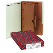 Smead 29710 Pressboard End Tab Classification Folders with Pockets Lgl 6-Section 10/bx