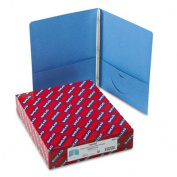 Smead Manufacturing Company Paper Two-Pocket Portfolio, Tang Clip, Letter, 1/2'' Capacity, Blue, 25 per Box