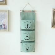 Starsglowing Hanging Bag Storage Bag Wall Door Organiser Hanging organiser Utensil Bag for Children's bedroom 3 Pockets