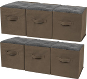 Greenco Foldable Storage Cubes Non-woven Fabric -6 Pack-