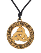 My Shape Irish Knot Nordic Talisman Carving Seal Tunes Pendant Necklace Wicca Jewellery