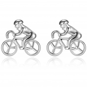 Honey Bear Cufflinks For Mens - Racing Bike Bicycle Cyclist Sports,For Mens Shirt Wedding Gift