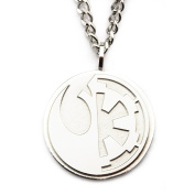 Star Wars Rogue One Split Symbol Large Pendant Stainless Steel Necklace