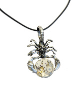 Tibetan Silver Steampunk Scorpion Necklace. Hand Made in Cornwall, UK