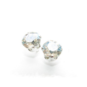 pewterhooter 925 Sterling Silver stud earrings handmade with Moonlight crystal from ® for Women