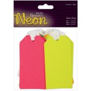 Papermania Neon Tags 20/Pkg-10cm x 5.1cm Green, Orange, Pink & Yellow