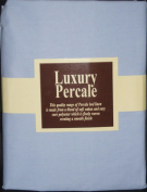 Extra Deep 33cm Super Single 3FT6ft x 1.8m Bed Sky Blue Fitted Sheet+ Free Piillowcase