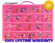 Paw Patrol Carrying Case - Stores Dozens Of Figures- Durable Toy Storage Organisers By Life Made Better - Pink