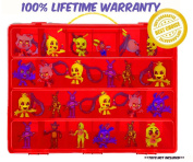 Five Nights At Freddys Carrying Case - Stores Dozens Of Figures - Durable Toy Storage Organisers By Life Made Better - Red