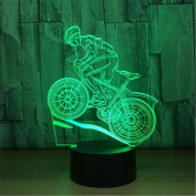 Lh & Fh 3D Bike Stereo With 5 Colour Gradient Touch LED Creative Products Gift Lamp Night Light