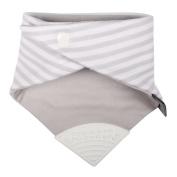 Cheeky Chompers CC771170 Necker Chew Neckerchief Grey Stripes, Grey