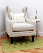 Thro by Marlo Lorenz Perry Pineapple Foil Printed Rug, Dark Citron Gold