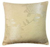 "ORBY WOVEN THICK FLORAL SOFT CREAM BEIGE CUSHION COVER 18"" - 45CM"
