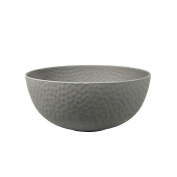 Zuperzozial 1410160 Large Bowl Hammered Bowl Made of Bamboo Fibres and Corn Salad Bowl Diameter 26.5 cm – Stone
