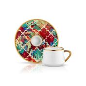 Sufi Coffee Cup and Saucer - Amazon Tropic - 90 cc