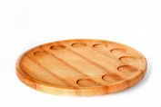 Green Tapas Tray Beech Wood Rolling 33x33x4 cm