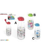 Glass bottle portable milk original and fun, so Choose your favourite! My Milk - Home and More - Red