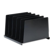 Angled Vertical Organiser, Five Sections, Steel, 14 1/2 X 9 7/8 X 8 3/4, Black