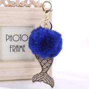 JianFeng Cute Key Chain Artificial Fur Fluffy Ball Car Bag Key Ring Gift