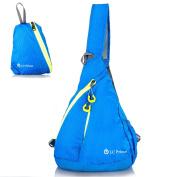 Sling Bag Chest Bag Unbalance BackPack Sack Shoulder Messenger Pouch Haversack Rucksack Chest Crossbody Backpack Pack for Travel Outdoor Foldable nylon multi-coloured - by LC Prime®