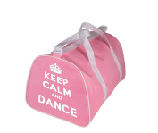 KEEP CALM AND DANCE Holdall Bag for dancer in Pink, Red, Black or Blue
