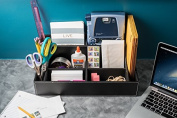 Stock Your Home Office Desk Supplies Organiser With Multi-Purpose Functionality As A Mail Organiser, Media Organiser & Electronics Organiser